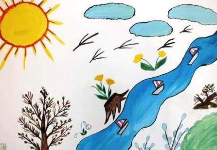 цветущая весна рисунки детей
