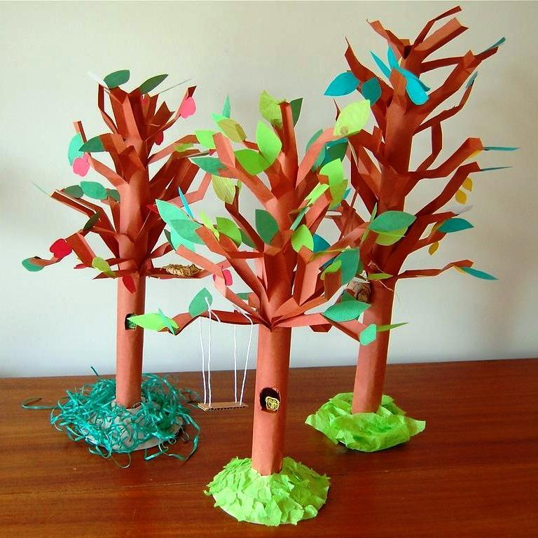Поделки с детьми на тему деревья 50