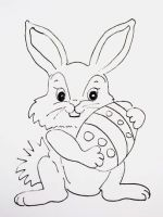 Рисунок «Пасхальный кролик»