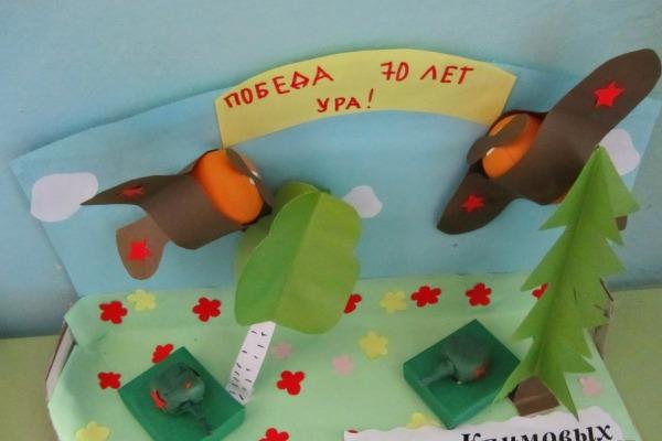 Поделки в детском саду к 9 маю