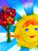 Поделка для детского сада на тему «Лето»