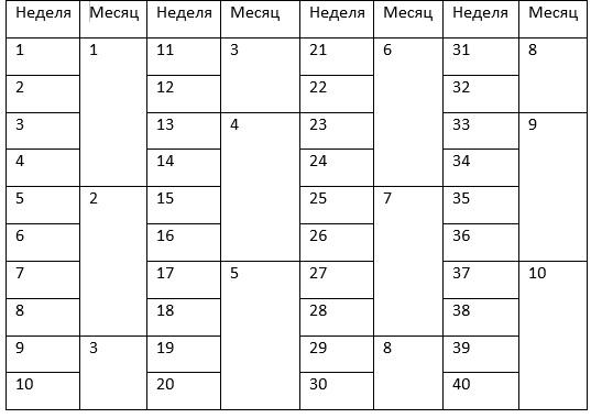 Развитие плода по неделям беременности - этапы 44