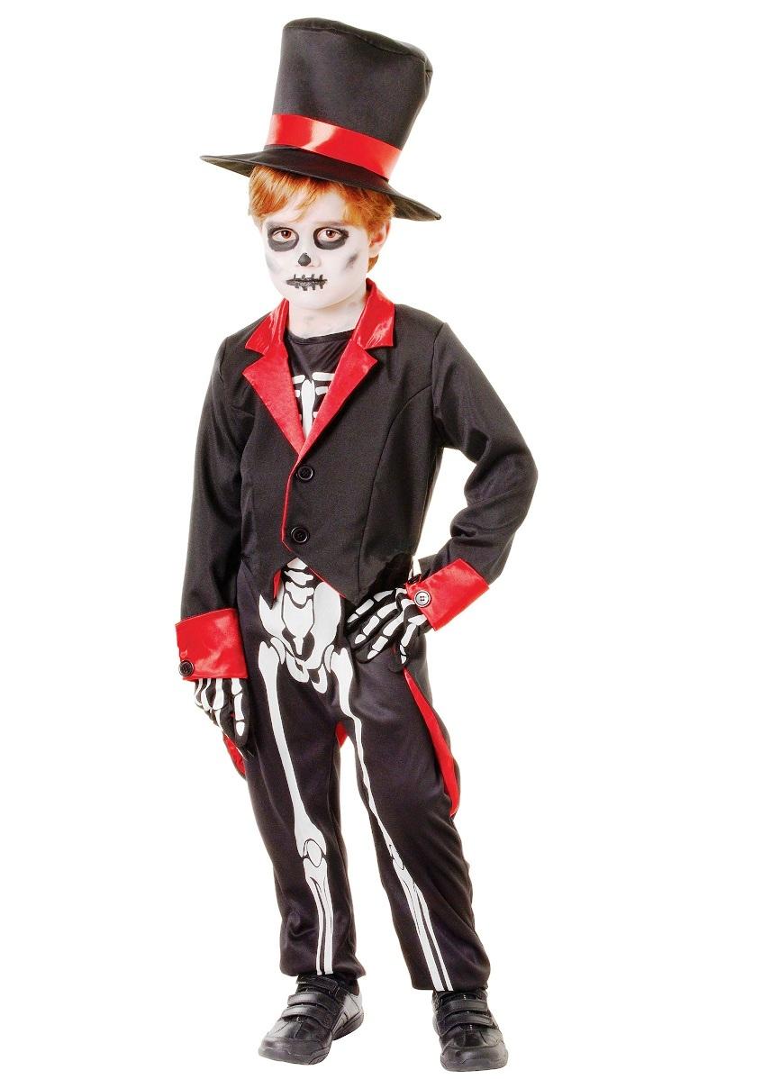 Костюм скелета на хэллоуин для мальчика своими руками