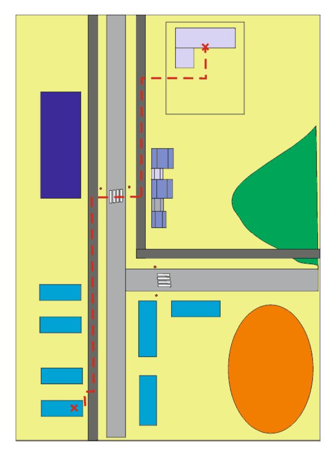 Как нарисовать маршрут от дома до школы6