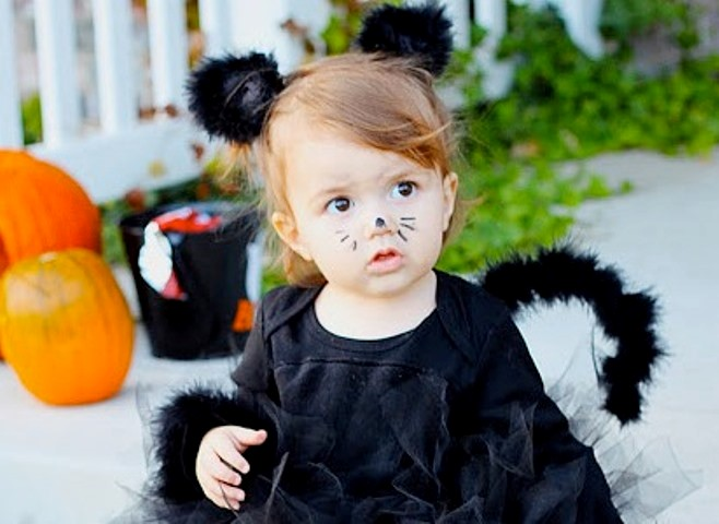 Костюм на Хэллоуин для девочки своими руками10