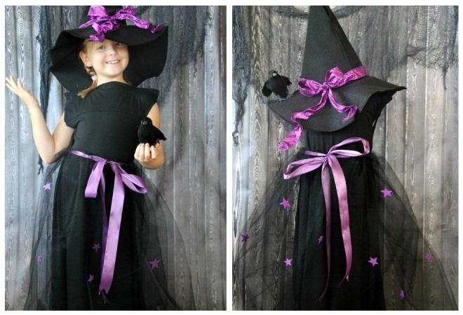 Костюм на Хэллоуин для девочки своими руками11