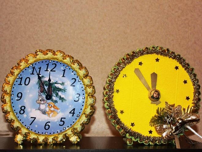 Часы поделки на новый год своими руками