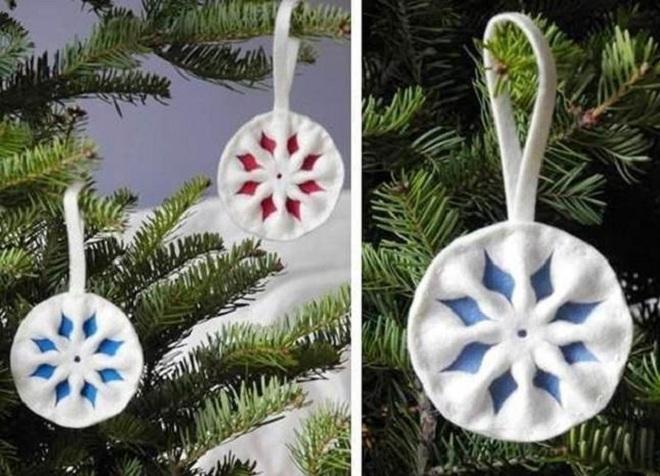 новогодние поделки из ватных дисков6