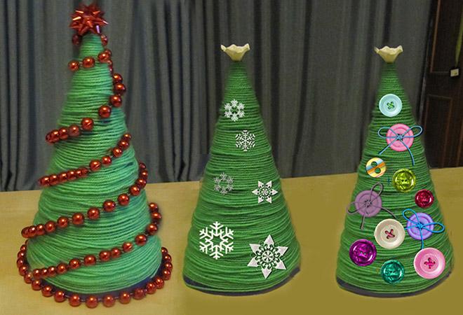 Из чего можно сделать новогоднюю поделку в детский сад