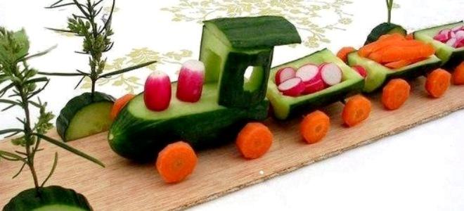 Поделки из овощей паровозик