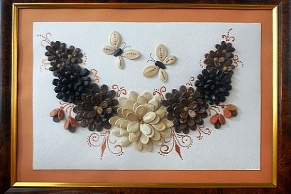 Картина из семян сделать своими руками