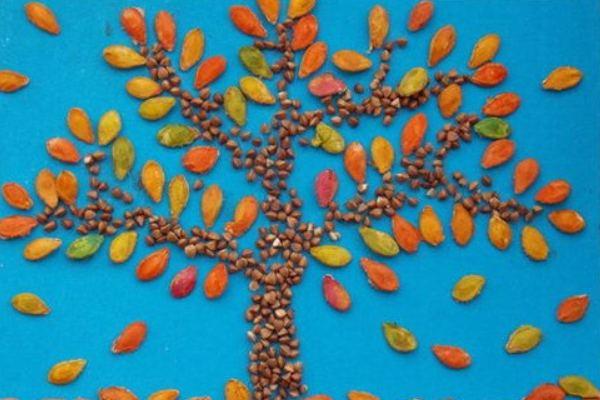Поделки на тему осень из семечек