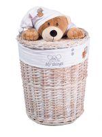 Плетеные корзины для игрушек