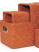 Напольные плетеные корзины