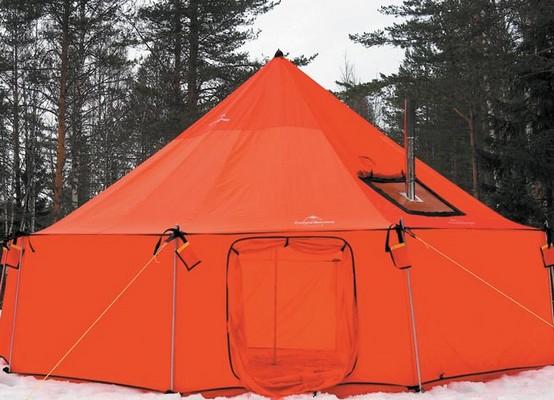палатка для рыбалки с печью