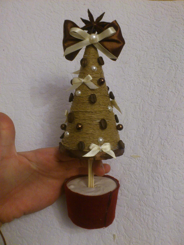 Новогодняя елка из шпагата своими руками