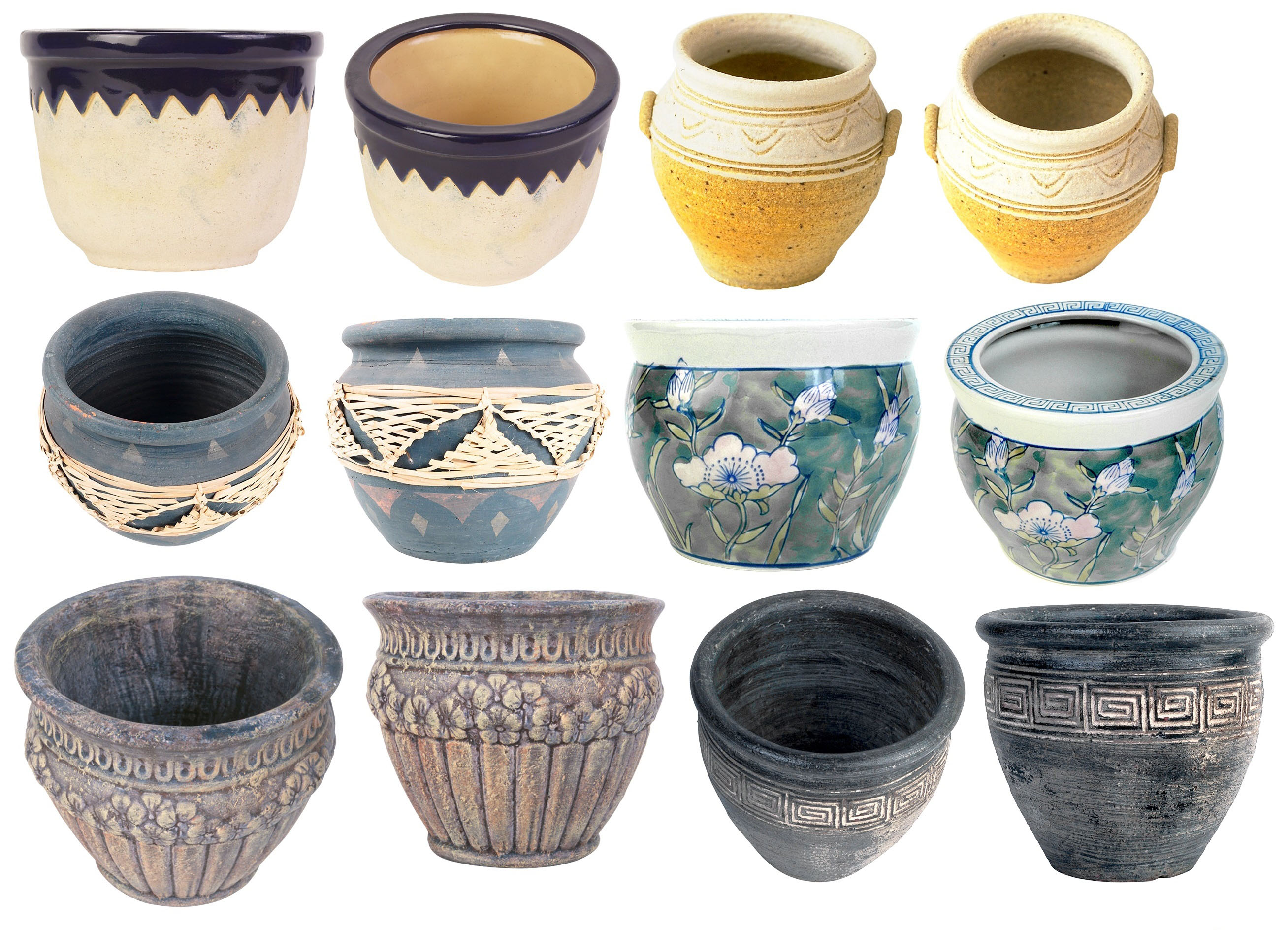 Горшок для цветов керамический большой купить