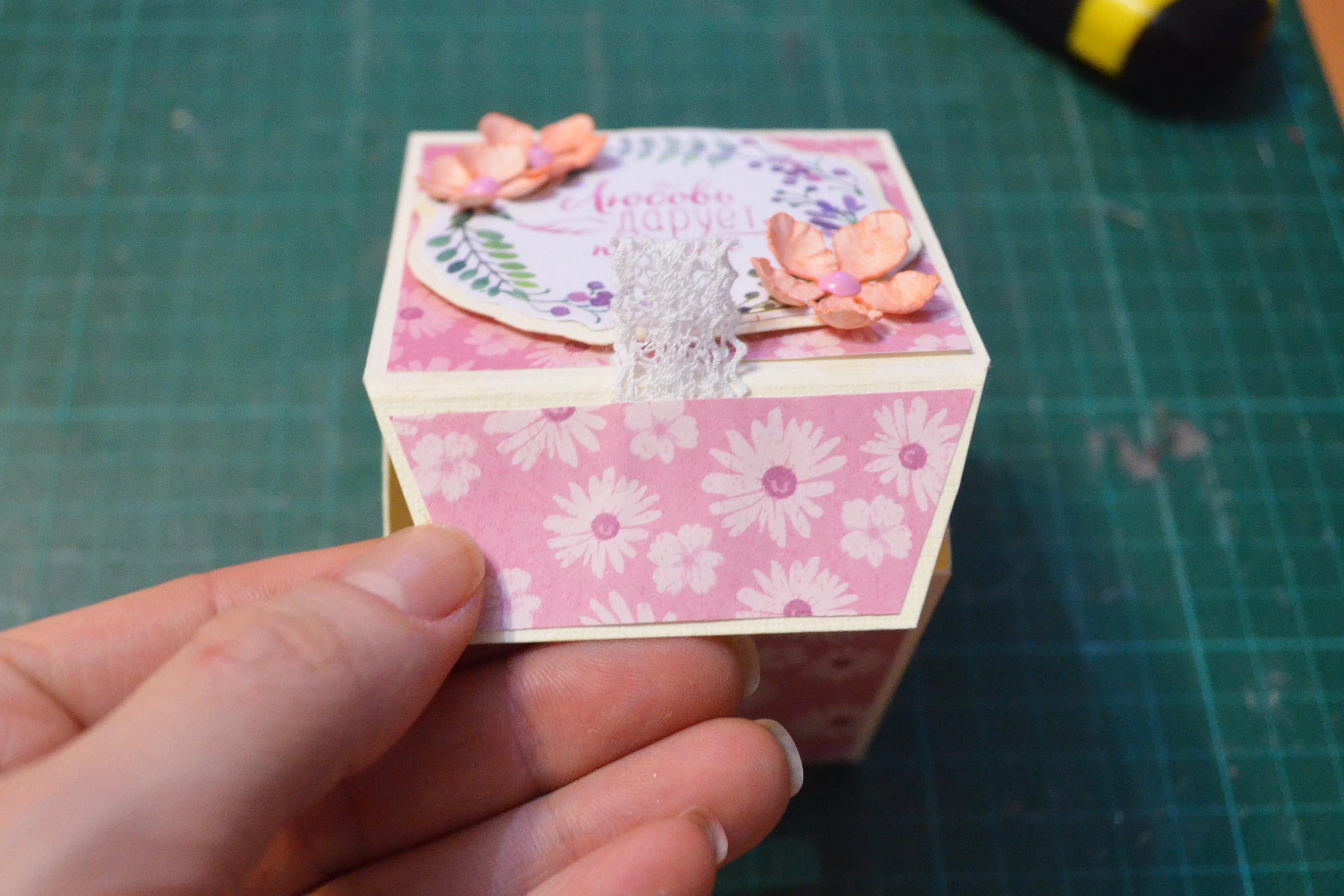 Как сделать бонбоньерку коробочку своими руками