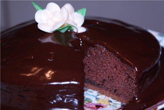 Шоколадный бисквит из шоколада рецепт с пошагово