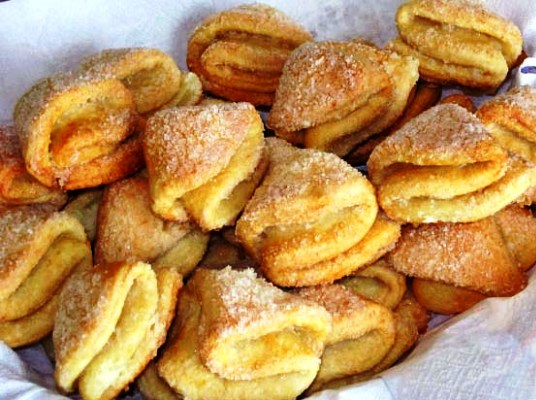 Творожное печенье рецепт треугольники с сахаром пошаговый