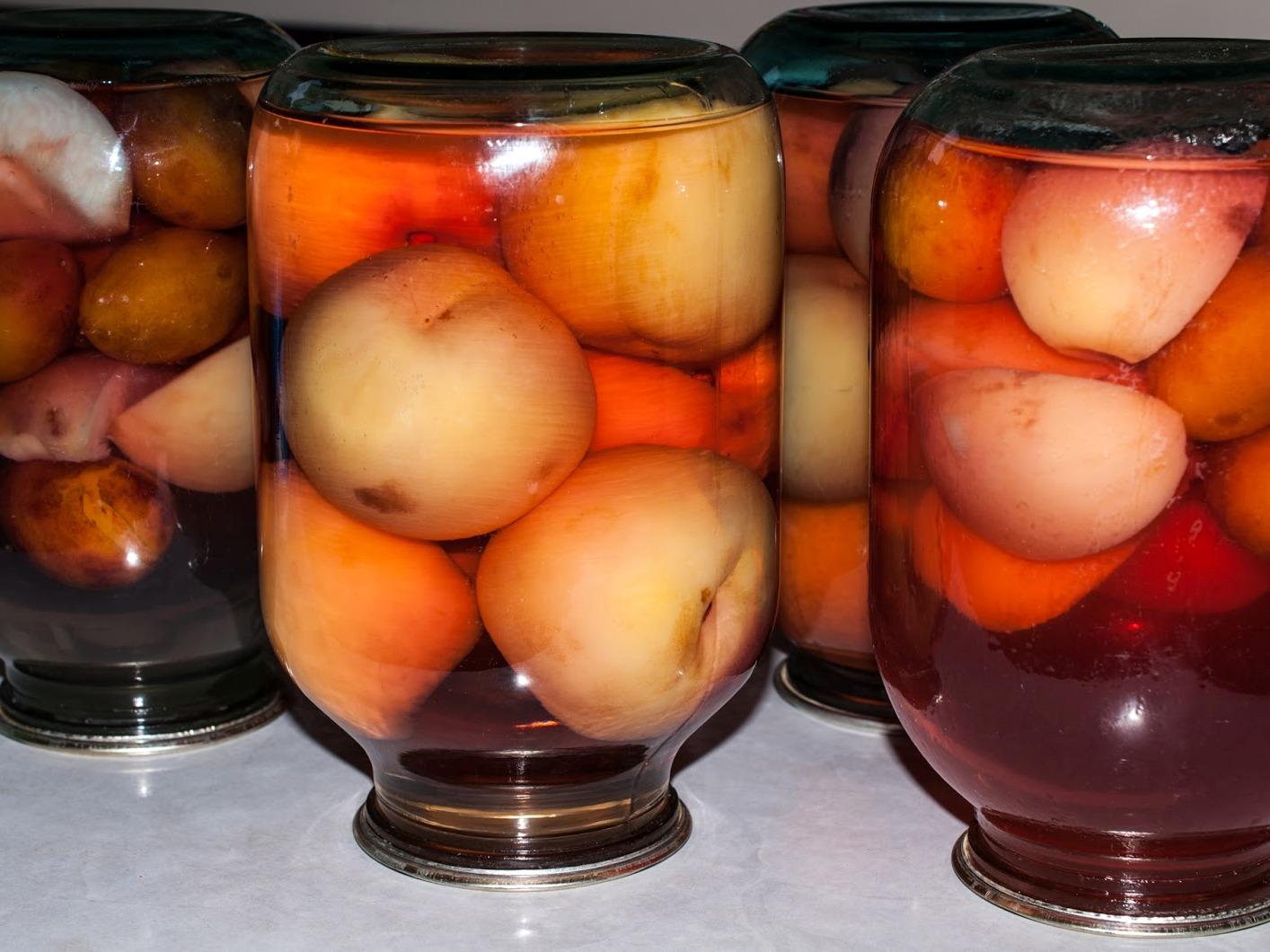 Компот персики и сливы рецепт