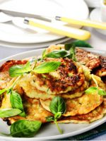 Пышные оладьи из кабачков - рецепт