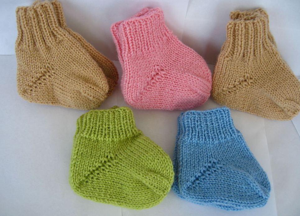 носочки для новорожденных из плюшевой пряжи