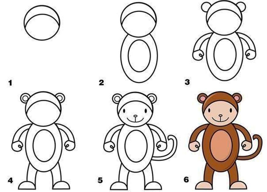 Что нарисовать ребенку 3 лет картинки