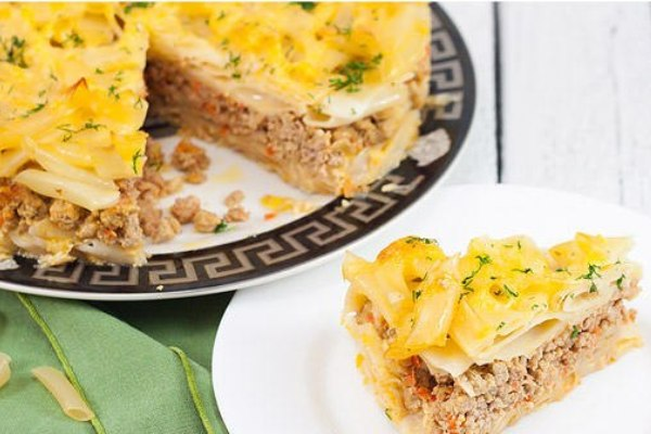 Запеканка с фаршем и макаронами в духовке рецепт пошагово