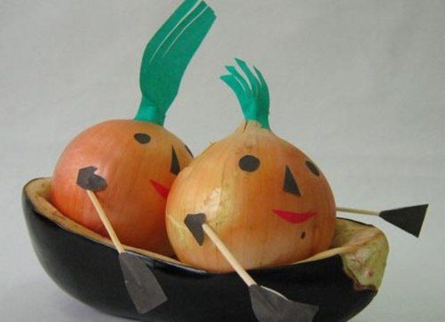 Поделки из картошки моркови чеснока