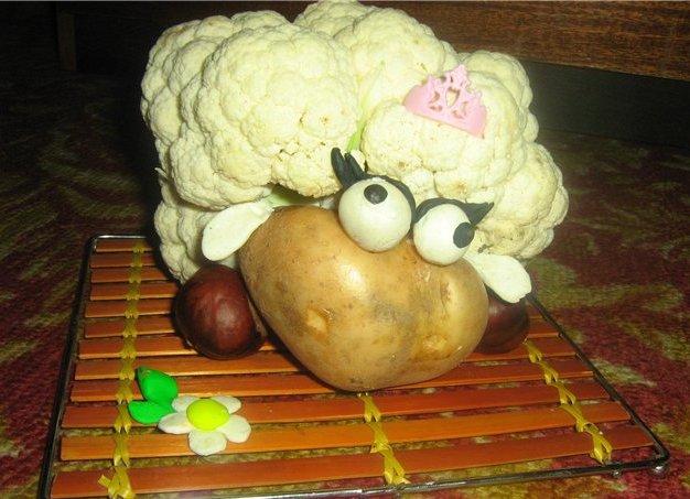 Поделка из овощей своими руками для детского сада картинки Lucky Car