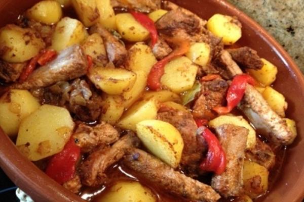 картошка с ребрышками в духовке простой рецепт