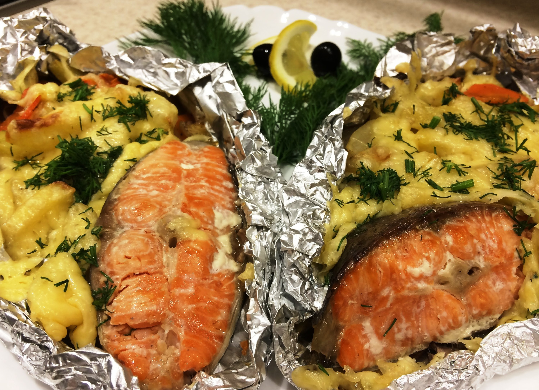 рецепт кальмаров в духовке в фольге