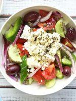 Классический греческий салат - простой рецепт
