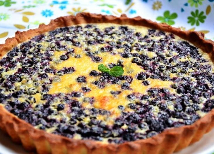 Пирог с черникой рецепт в сметанной заливке рецепт с