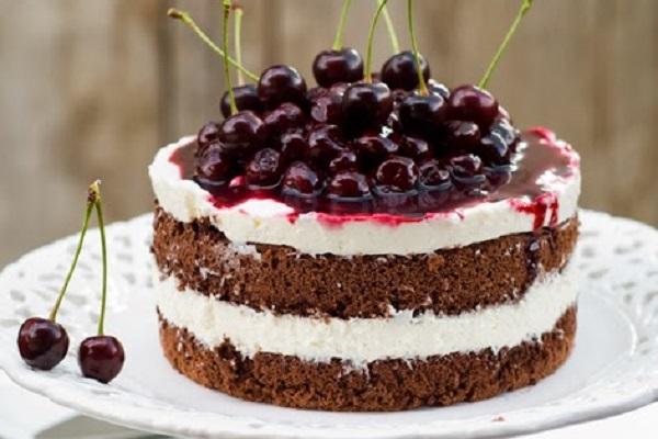 Торт с вишней и маскарпоне фото
