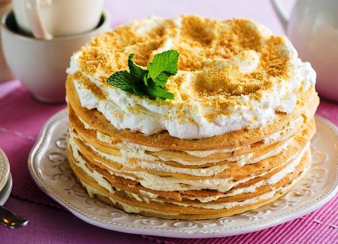 Торт наполеон классический пошаговый рецепт с