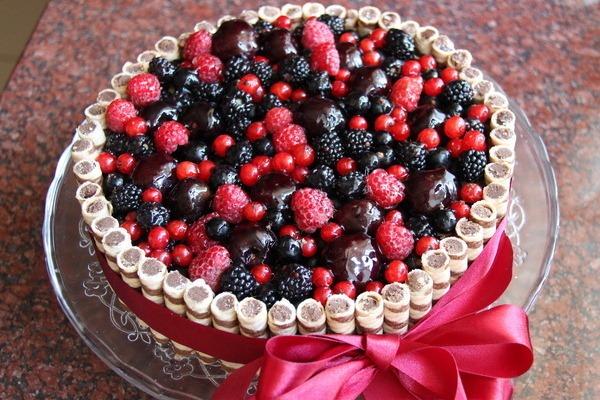 торт с замороженными ягодами рецепт с фото пошагово в домашних условиях