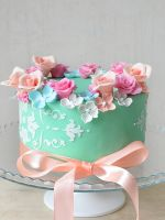 Как украсить кремом торт