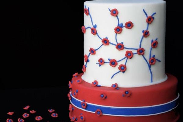 Торт двухъярусный с мастикой для начинающих 54