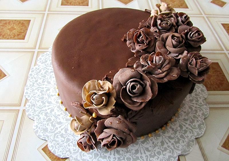 Как сделать торт из шоколадной мастики