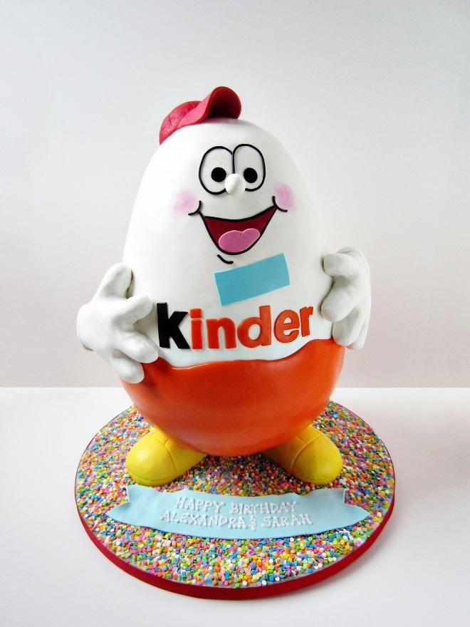 Как сделать торт «Киндер сюрприз» идеи декора 2