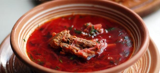 Красный борщ – рецепт