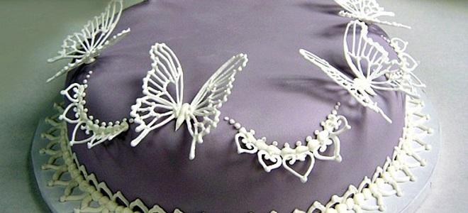 Бабочки из айсинга