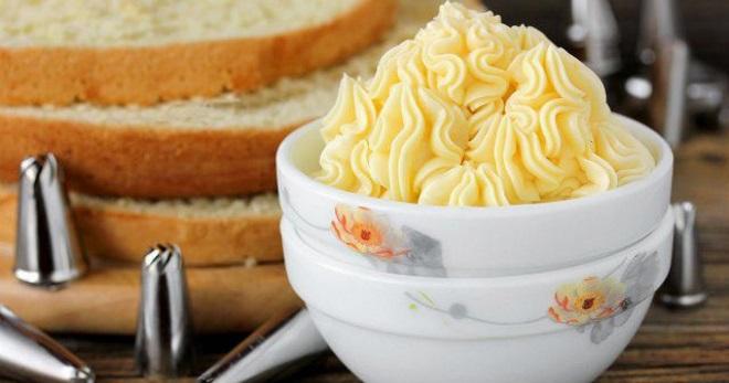 Масляной крем для торта со сгущенкой