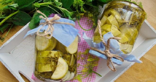 хрустящие маринованные кабачки на зиму рецепт с фото