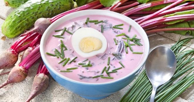 Холодный свекольник - классический рецепт летнего блюда