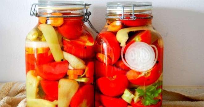 засолка помидор с луком на зиму рецепты