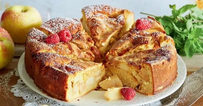 Яблочный пирог в духовке рецепты простые и вкусные