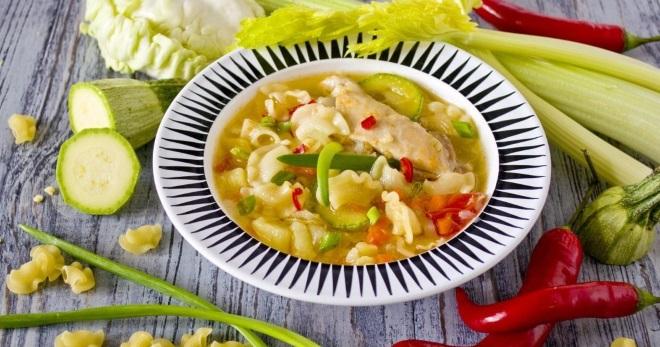 Суп на курином бульоне - вкусные и разнообразные рецепты простого первого блюда